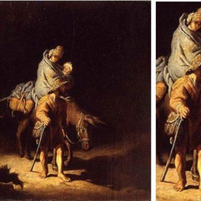 La fuite en Egypte Rembrandt