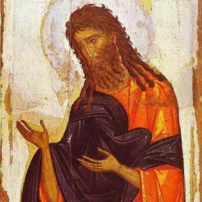 © Saint Jean-Baptiste. Icône Byzantine du 14ème siècle. Musée de L'Ermitage, Saint Pétersbourg. Russie.