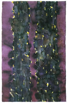 Alfred Manessier, 27 Aquarelles verticales, XVII, 1993